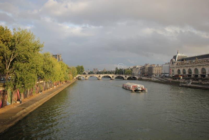Paris - Seine River. Seine River - Paris - France - D´Orsay Museum stock photography
