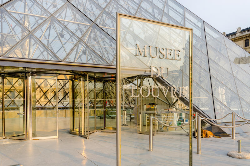 Paris - 18 septembre 2012 : Musée de Louvre image libre de droits