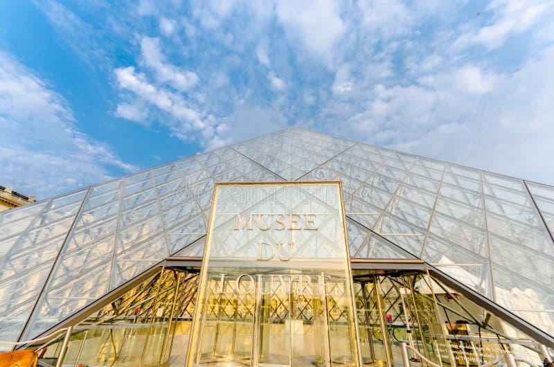 Paris - 18 septembre 2012 : Musée de Louvre dessus images libres de droits