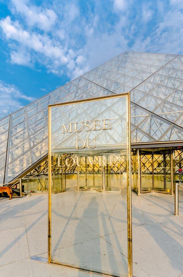 Paris - 18 septembre 2012 : Musée de Louvre dessus image libre de droits
