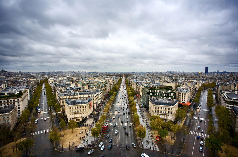 Download Paris Skyline stock image. Image of love, tour, clouds - 17642379