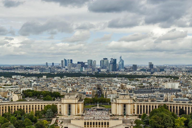 Paris skyline royalty free stock photos