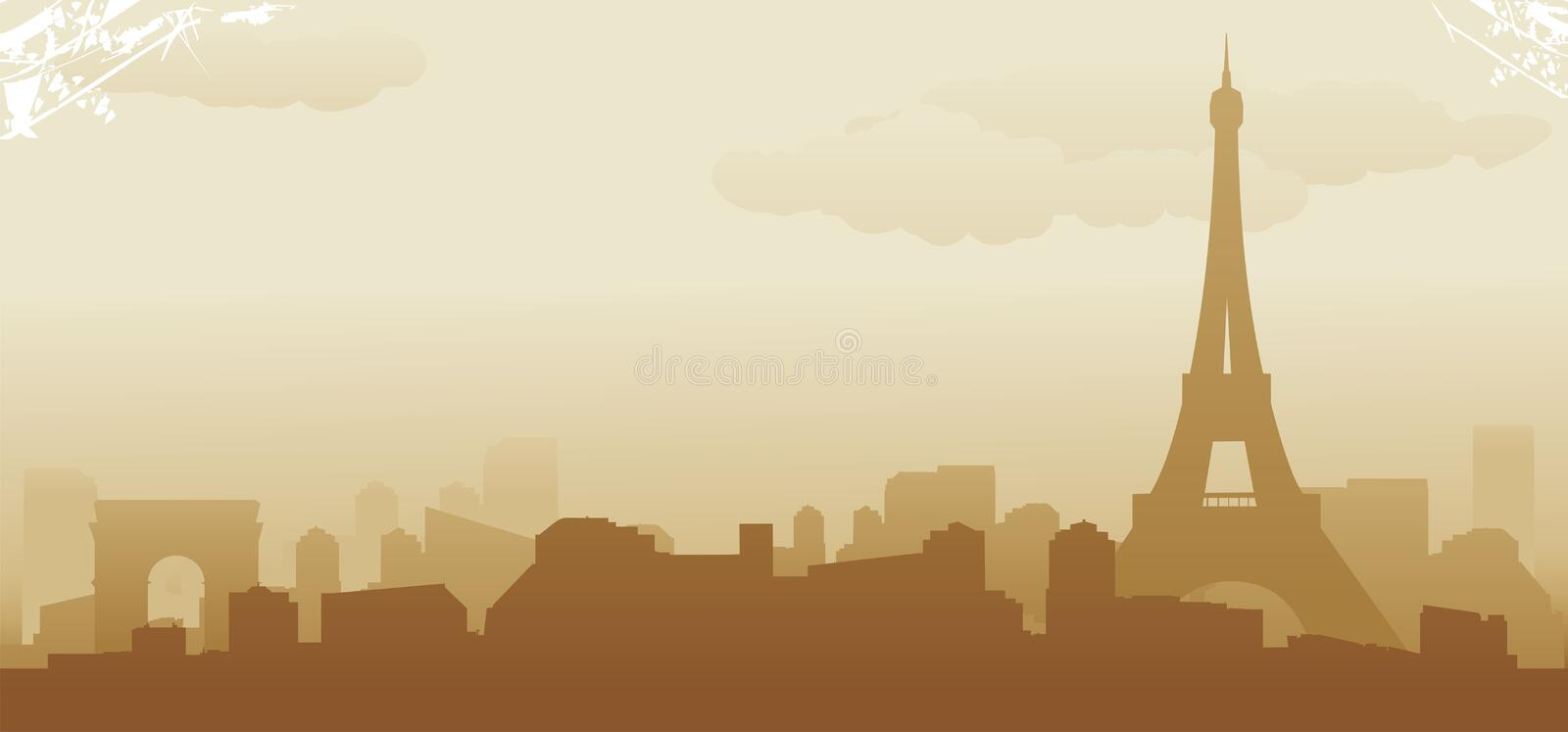 Download Paris skyline stock vector. Illustration of business - 27443418