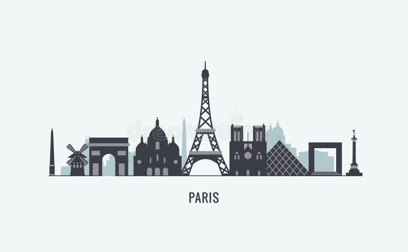 Paris skyline silhouette stock vector. Illustration of ...