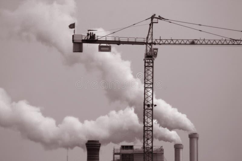 Paris smoke stock photo