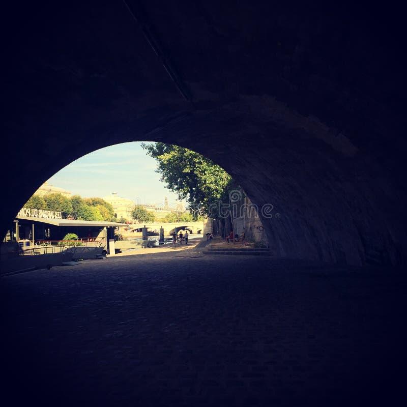 Paris sob a ponte imagens de stock royalty free