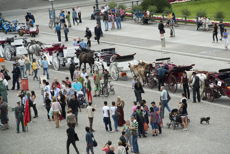 People on Paris Square, Berlin royalty free stock photography