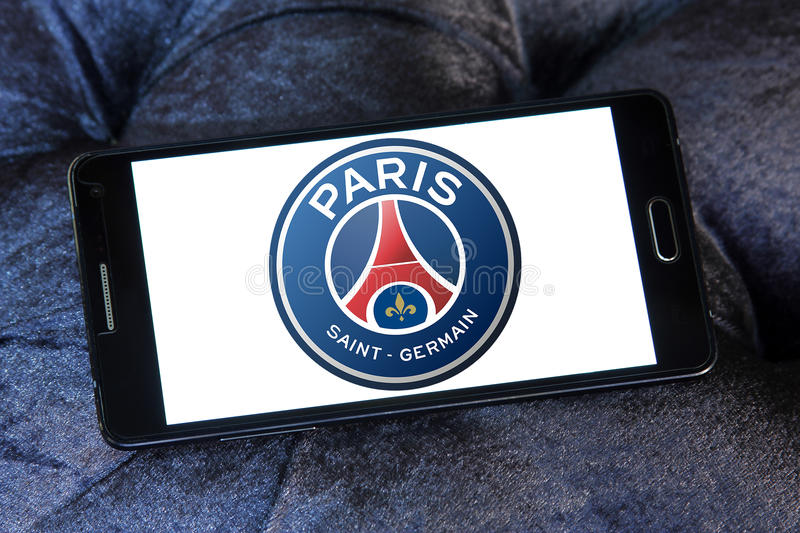 Paris St Germain, logo de club du football de PSG images stock