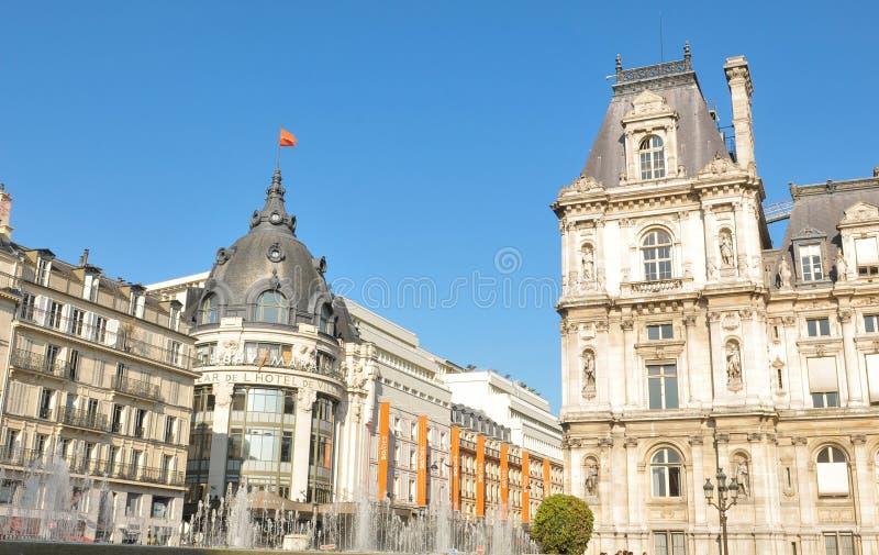 Paris stadshus royaltyfri fotografi