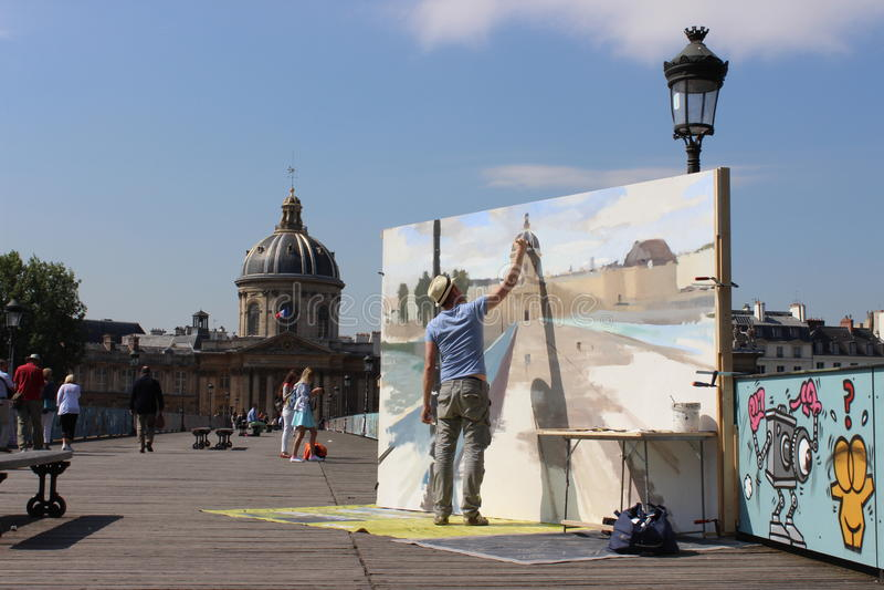 Paris-Stadtkünstler lizenzfreie stockfotografie