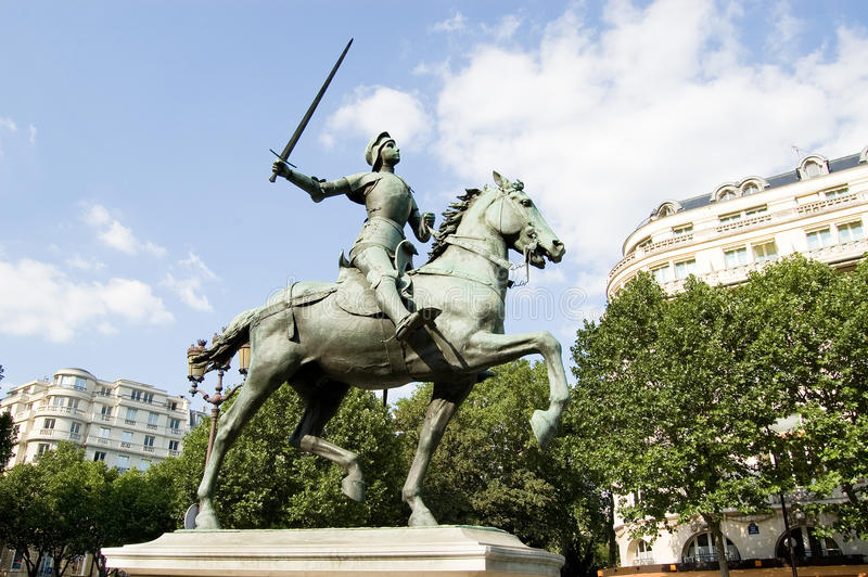 Paris Statue of Joan of Arc stock image