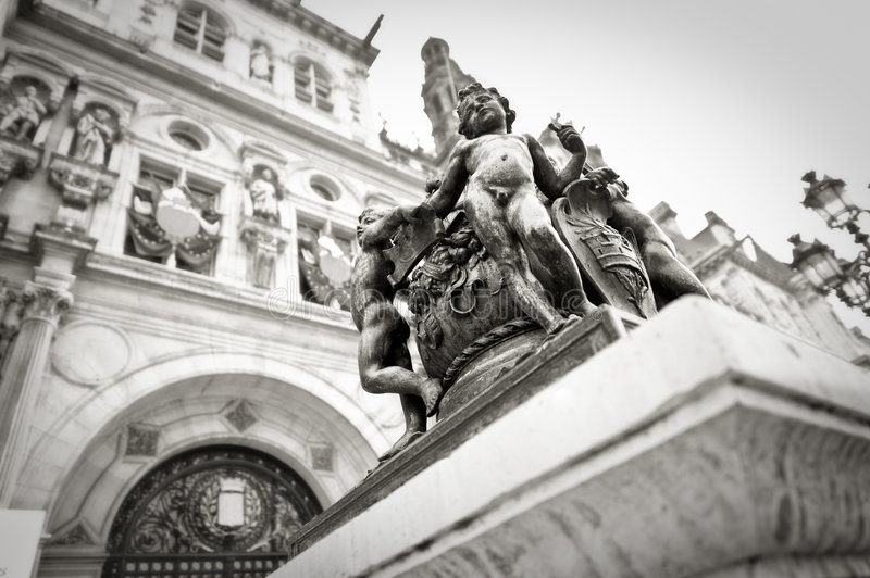 Paris statues royalty free stock photography