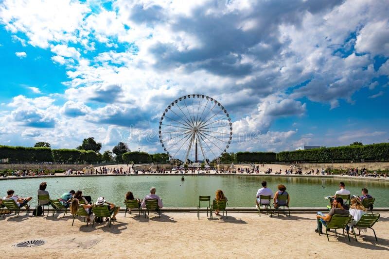 Paris stort hjul 1 fotografering för bildbyråer