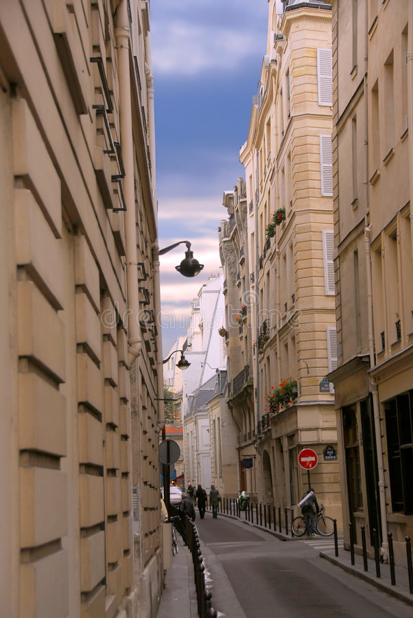 Download Paris street stock image. Image of perspective, balcony - 1727245