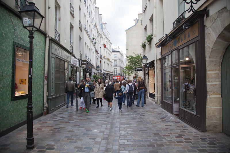 Paris Street stock photo
