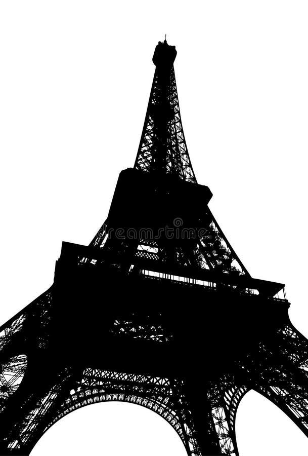 Paris sylwetki wieżę eiffel royalty ilustracja
