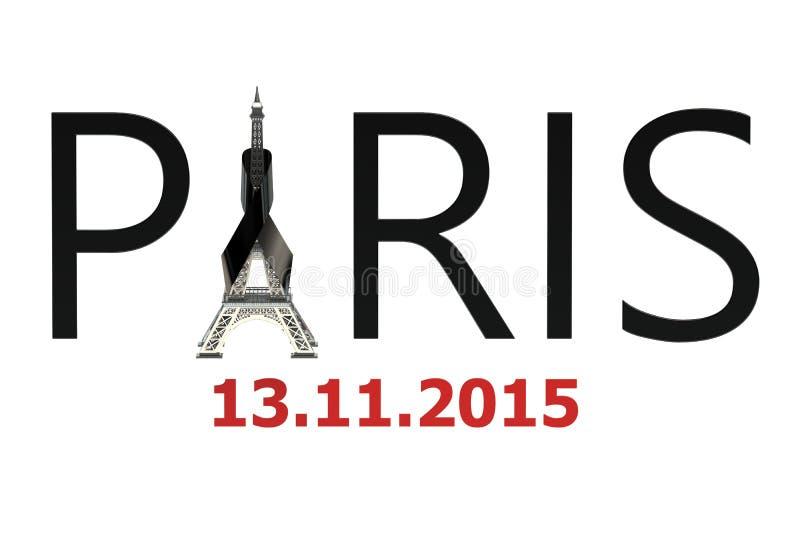 Paris terror attacks concept. On white background vector illustration