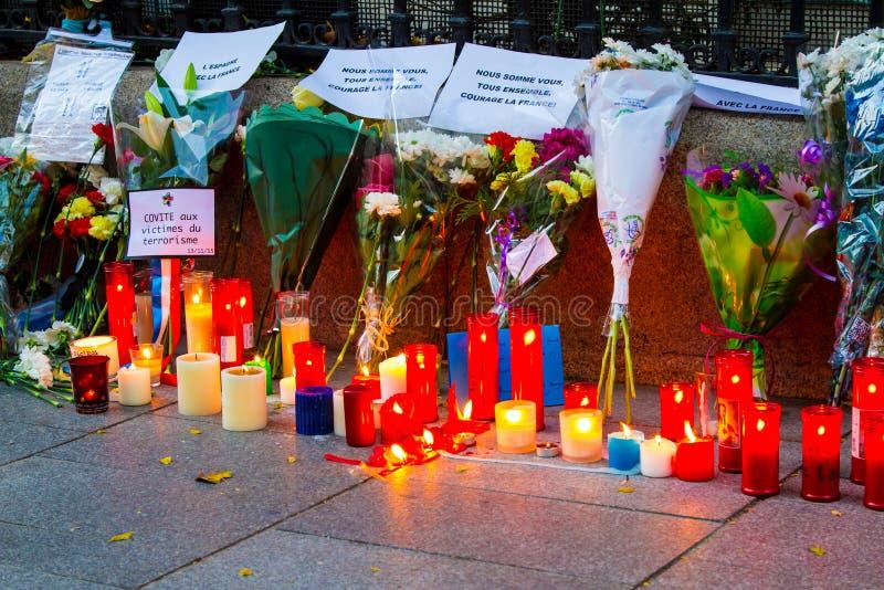 Paris terrorismattack royaltyfria bilder