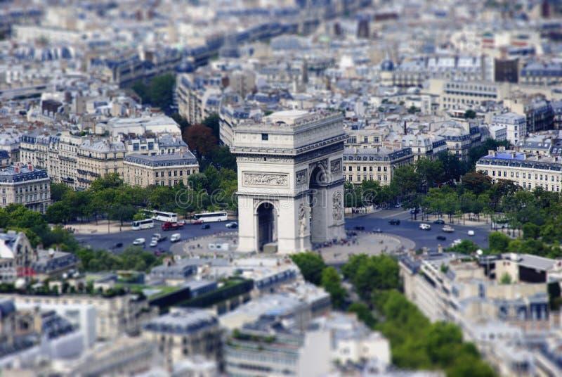 Paris. Tilt-Shift model stock images