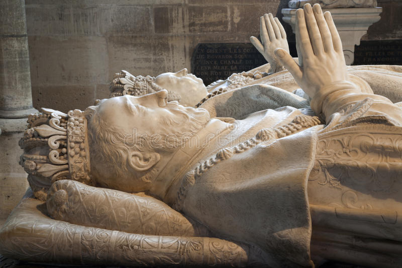 Paris - Tombs from Saint Denis gothic cathedral royalty free stock photography