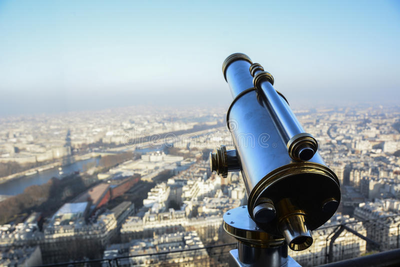 Paris from top stock photo