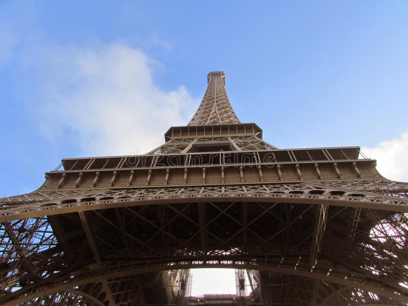 Paris, Tour Eiffel, vue de plancher photos stock