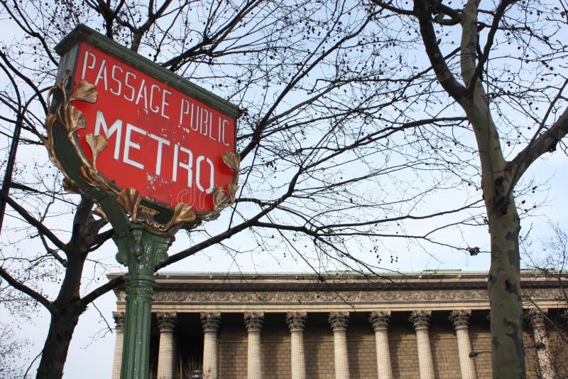 Paris tunnelbanatecken arkivbild
