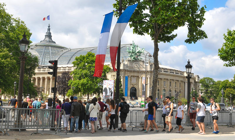 paris turystów obraz royalty free