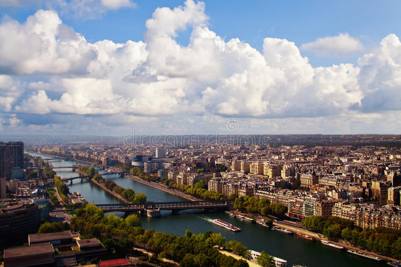 Paris Under The Sky Royalty Free Stock Photography