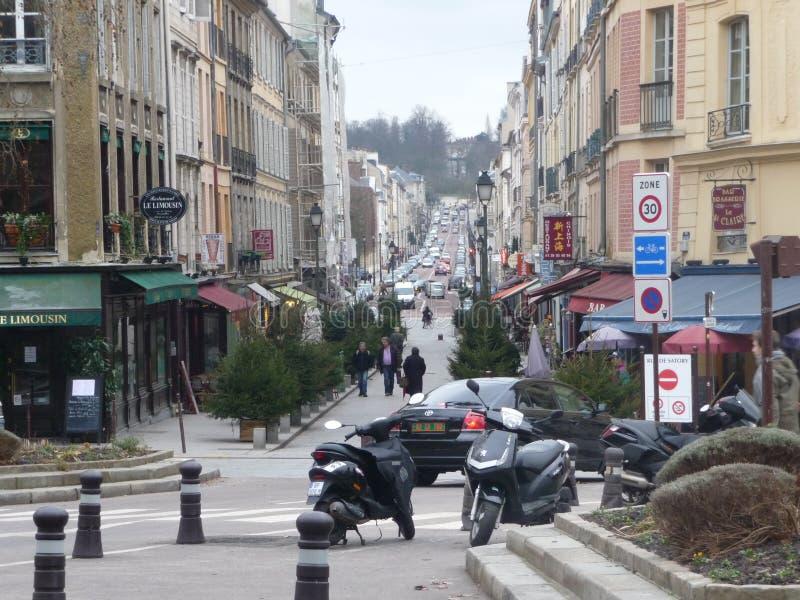Paris - utkant av staden arkivfoton