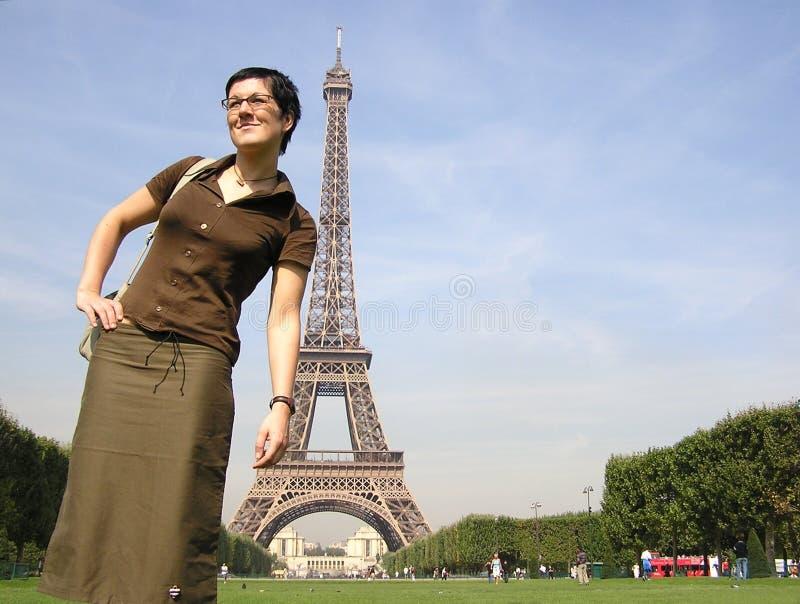 Paris vänner royaltyfria foton