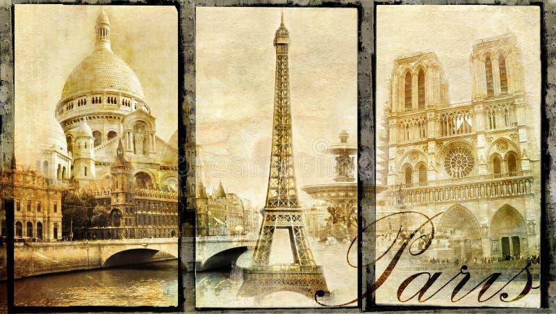 Paris velha ilustração stock