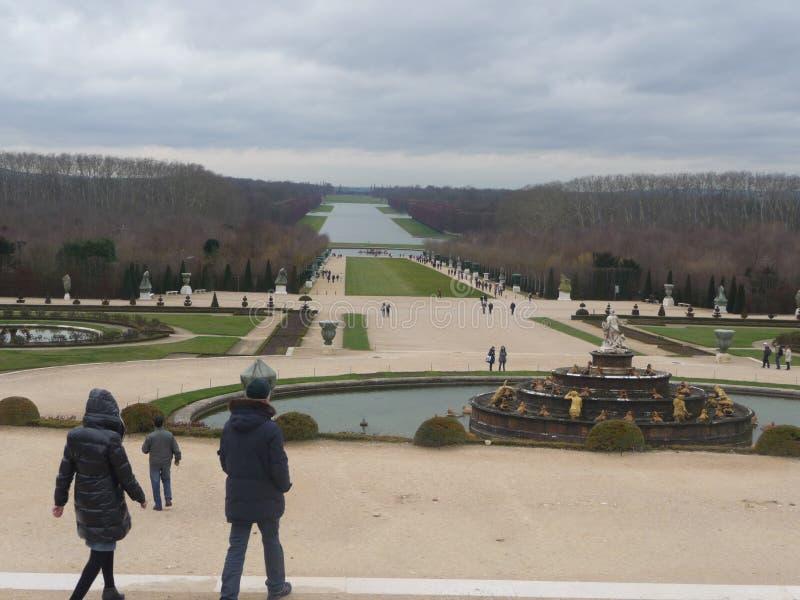 Paris - Versailles (trädgården) arkivbilder