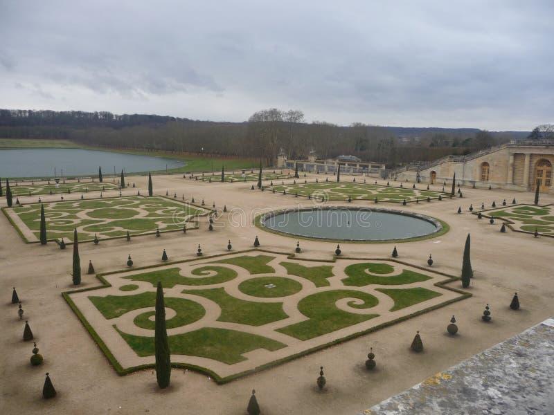 Paris - Versailles (trädgårds- landskap) royaltyfria foton