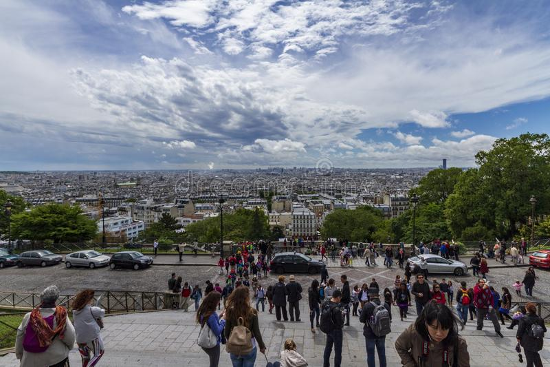 Paris view from sacre coeur royalty free stock photo