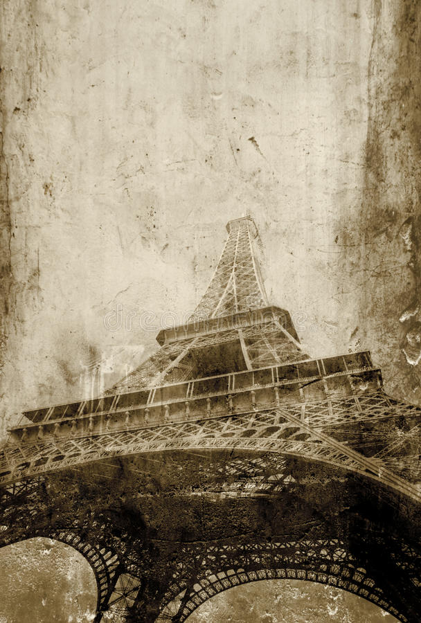 Paris vintage royalty free stock photography