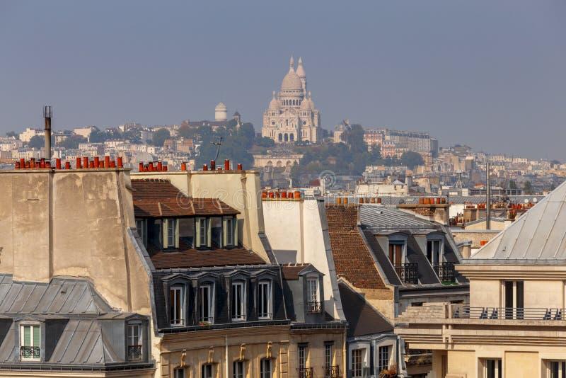 paris Vogelperspektive der Stadt lizenzfreies stockbild