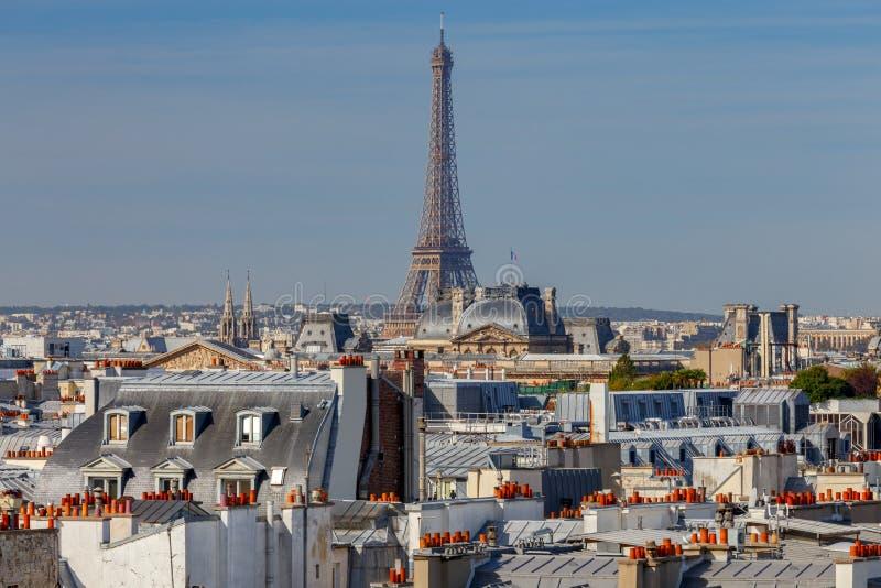 paris Vogelperspektive der Stadt lizenzfreie stockfotos