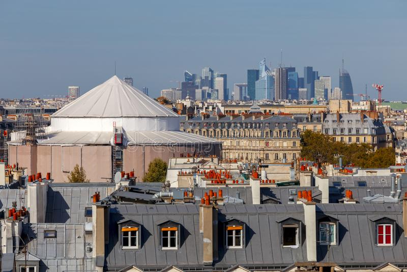 paris Vogelperspektive der Stadt lizenzfreie stockbilder
