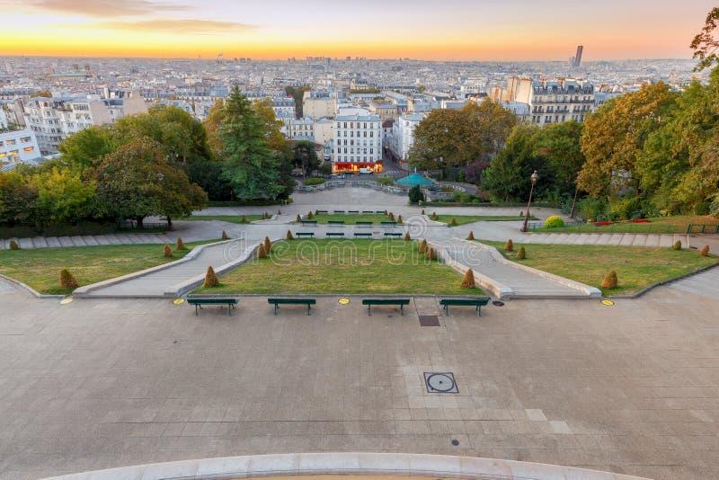paris Vogelperspektive der Stadt lizenzfreies stockfoto