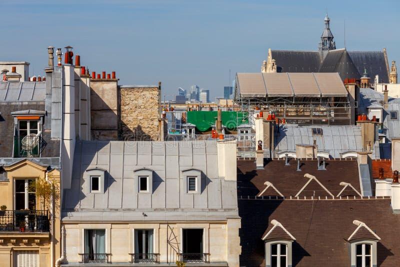 paris Vogelperspektive der Stadt stockbild