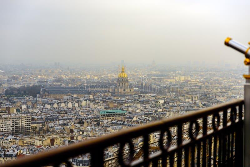 Paris vom Eiffelturm stockfotografie