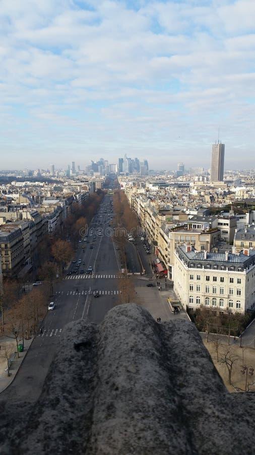 Paris von Arc de Triumph stockbild