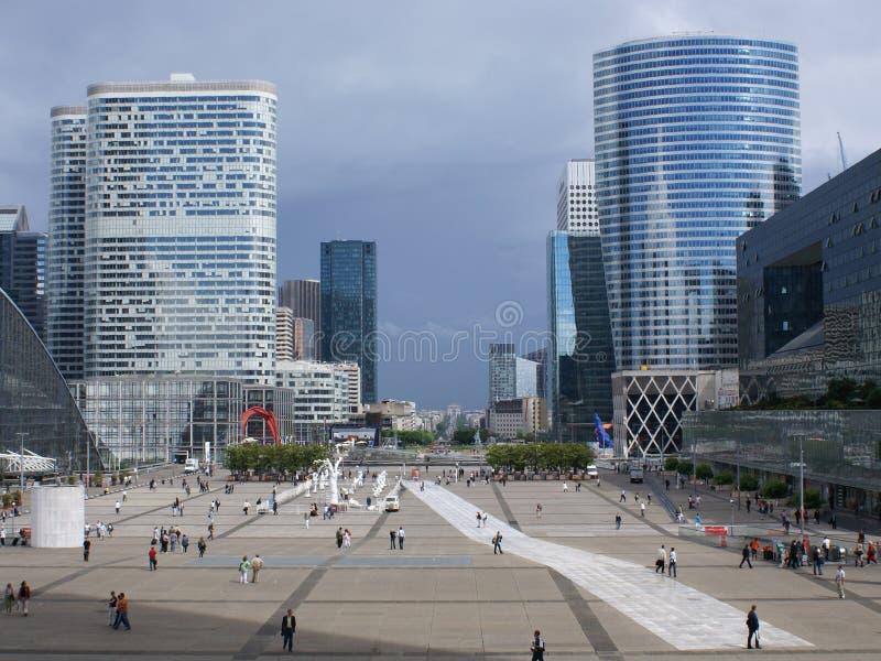 Paris von großartigem Arche lizenzfreies stockfoto