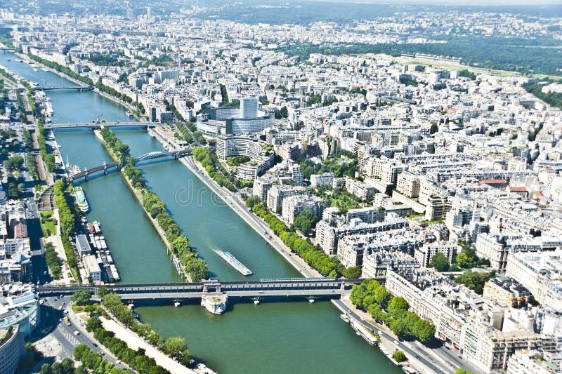 Paris von oben stockfotos