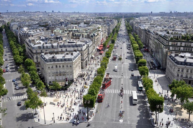 Paris von oben lizenzfreies stockbild