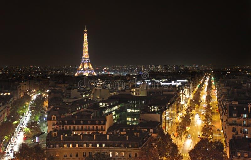 Paris von oben genanntem mit Eiffelturm stockbilder