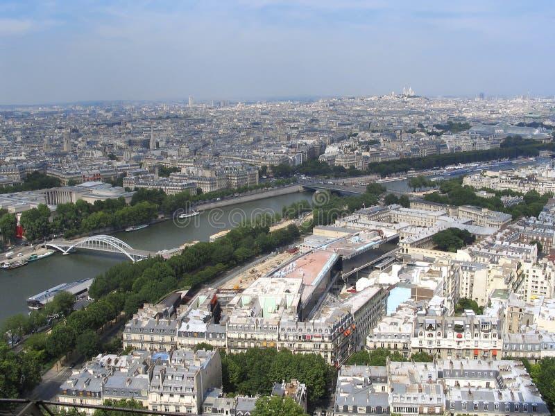 Paris - vue à premier Tour Eiffel photos stock