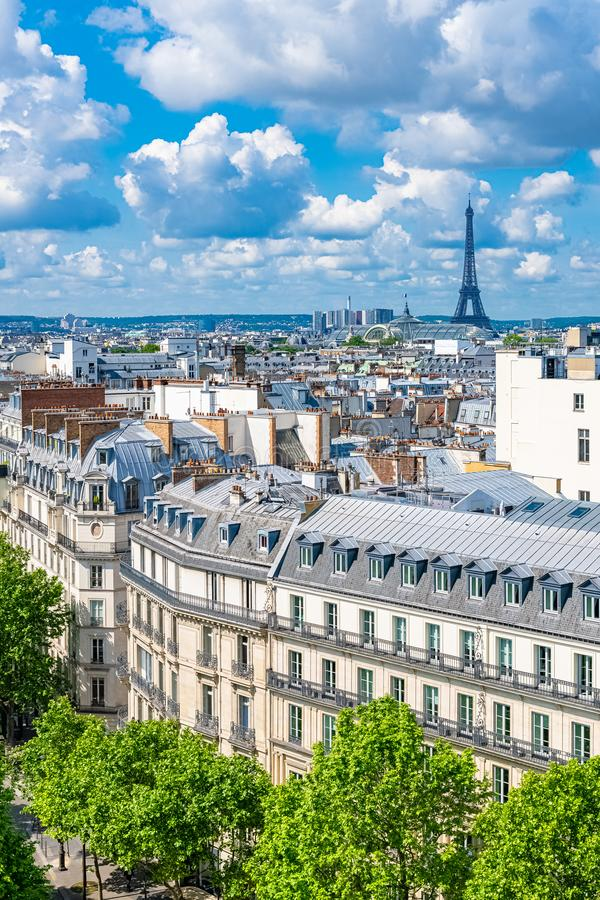 Paris, vue de Tour Eiffel photos stock