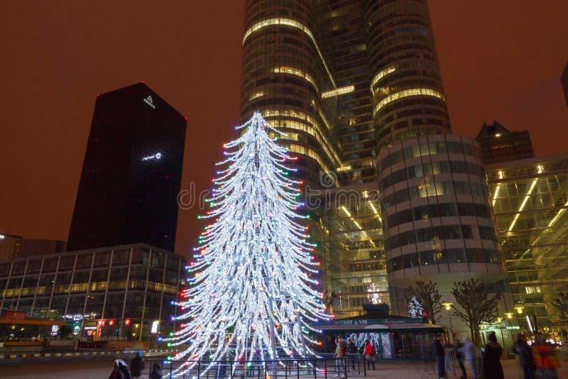 paris Weihnachten stockfotografie